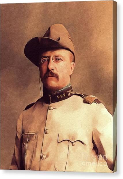 Theodore Roosevelt Canvas Print - Theodore Roosevelt, President by John Springfield