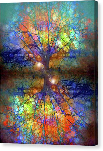 There Is Light Even In These Dark Roots Canvas Print