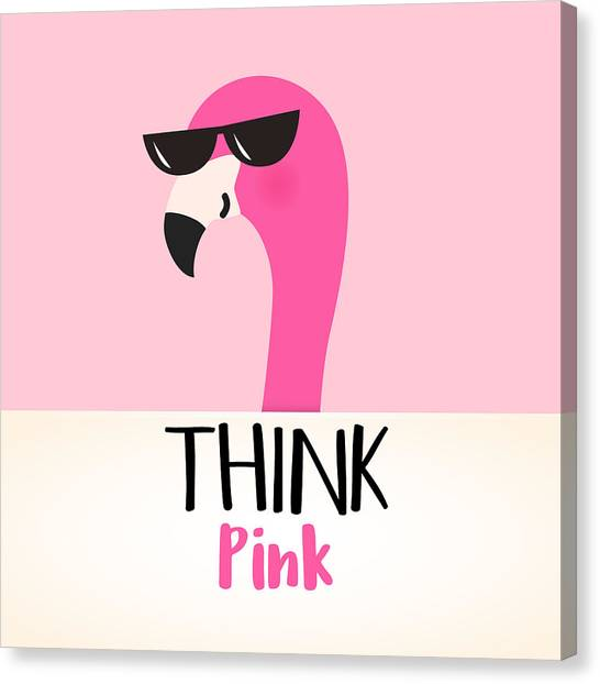 Think Pink - Baby Room Nursery Art Poster Print Canvas Print