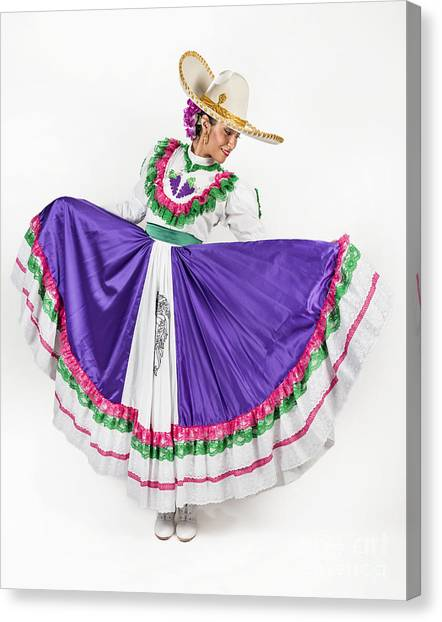 Dress Canvas Print - This Charming Dancer Is Wearing A by Leon Rafael