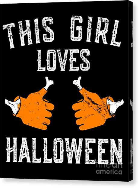 This Girl Loves Halloween Canvas Print