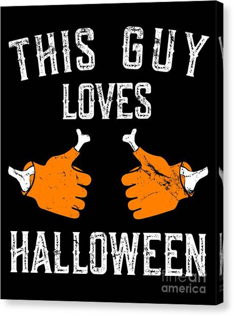 This Guy Loves Halloween Canvas Print