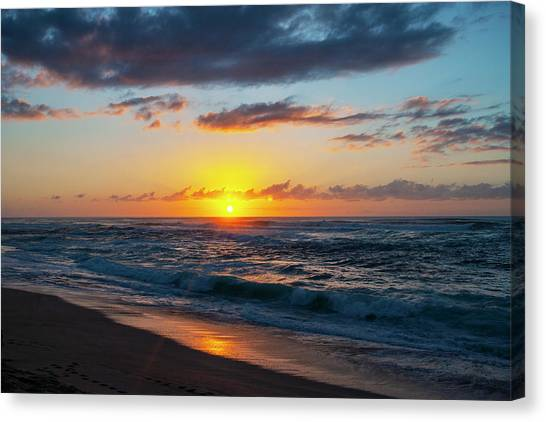 This Is Why They Call It Sunset Beach Canvas Print