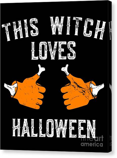 This Witch Loves Halloween Canvas Print