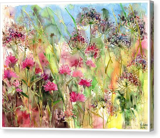 Alabama Canvas Print - Thistles Impression II by Suzann Sines