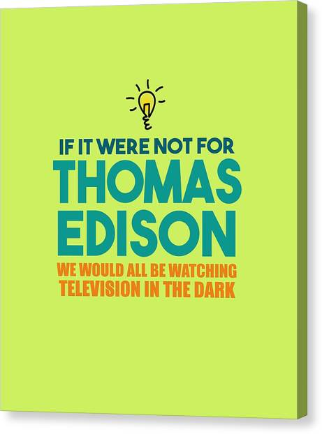 Thomas Edison Canvas Print