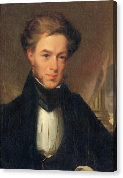 Portrait Of Thomas Ustick Walter, 1835 Canvas Print
