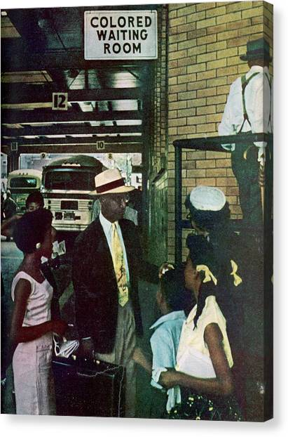 Thornton & Family At Bus Station Canvas Print