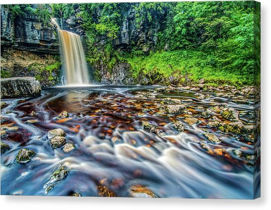 Thornton Force Waterfall Canvas Print by David Ross