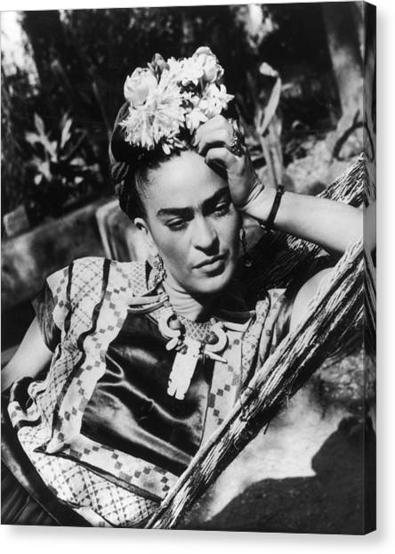 Thoughtful Frida Canvas Print by Hulton Archive