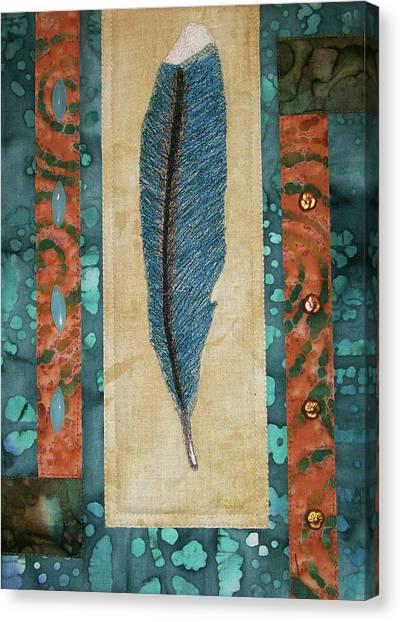 Threaded Feather Canvas Print