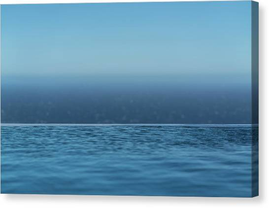 Canvas Print featuring the photograph Three Layers Of Blue by Milan Ljubisavljevic