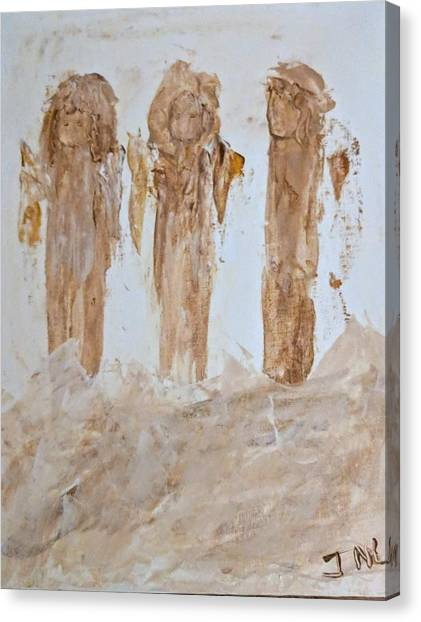 Three Little Muddy Angels Canvas Print