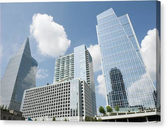 Three Modern Buildings In Different Canvas Print