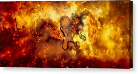 Apocalypse Canvas Print - Through Ashes Rise II by Mario Sanchez Nevado