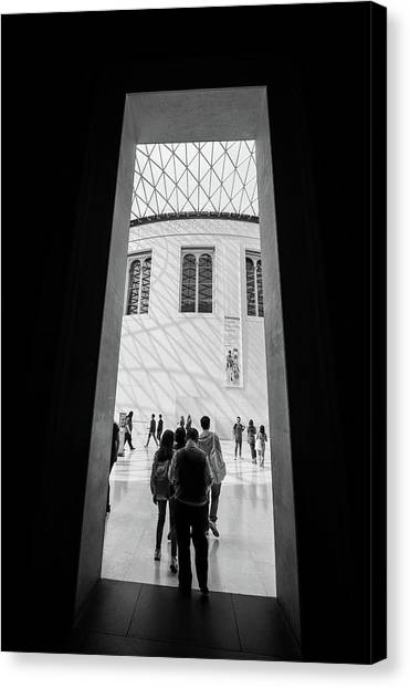 The British Museum Canvas Print - Through The Door by Martin Newman
