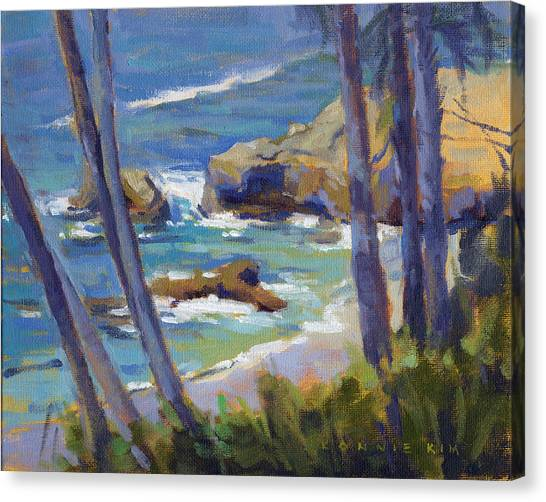 Canvas Print featuring the painting Through The Trees by Konnie Kim