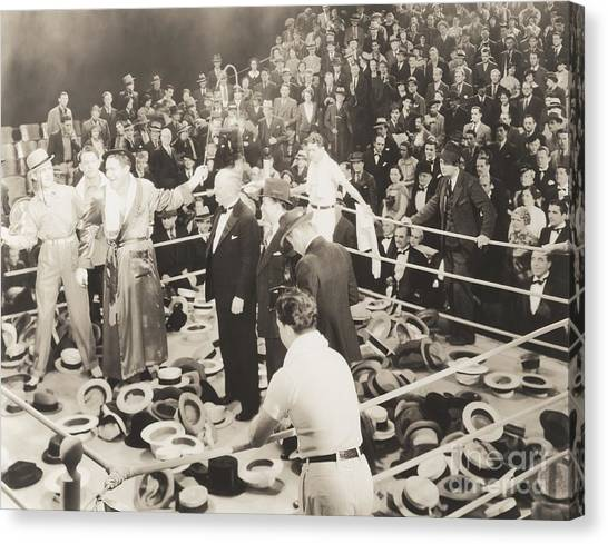 Indoors Canvas Print - Throwing Their Hats Into The Ring by Everett Collection