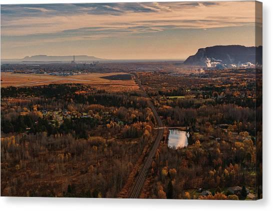Sleeping Giant Canvas Print - Thunder Bay by Damien Gilbert