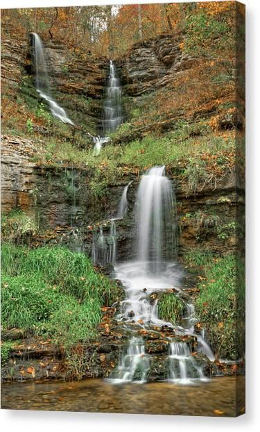 Thunder Falls - Dogwood Canyon Nature Park - Missouri Canvas Print