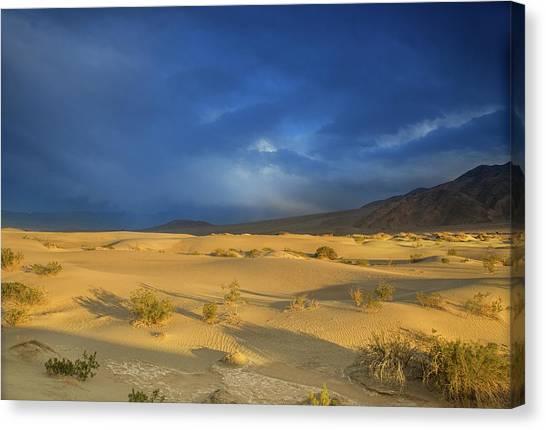 Thunder Over The Desert Canvas Print