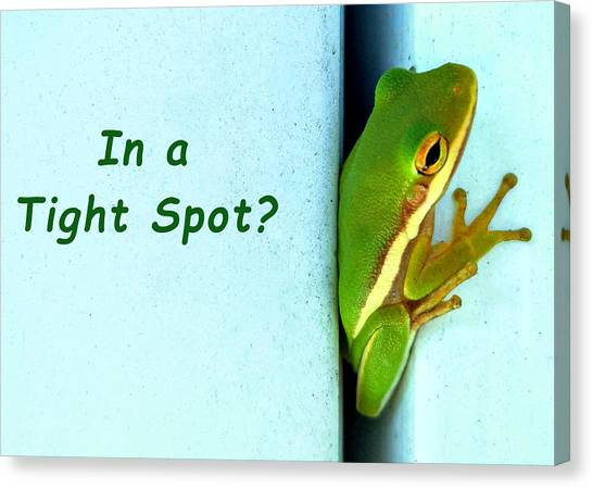 Tight Spot Canvas Print