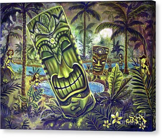 Tiki Genie's Sacred Pools Canvas Print