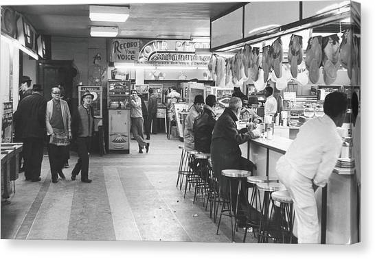 Times Square Arcade, 1964 Canvas Print by Fred W. McDarrah