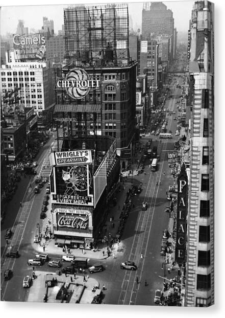 Times Square, Early 1930s Canvas Print by Frederic Lewis