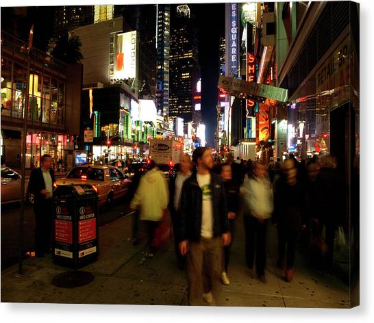 Time Square, Two Canvas Print