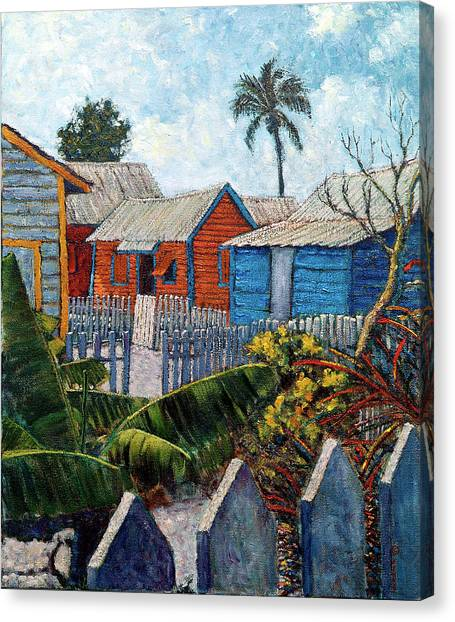 Tin Roofs And Clapboard Canvas Print