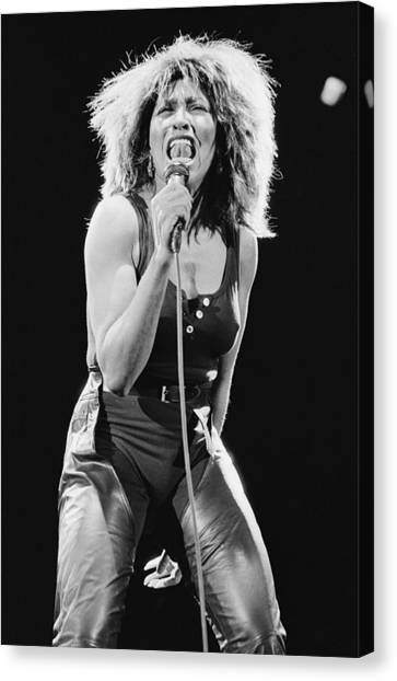 Tina Turner Canvas Print by Fin Costello