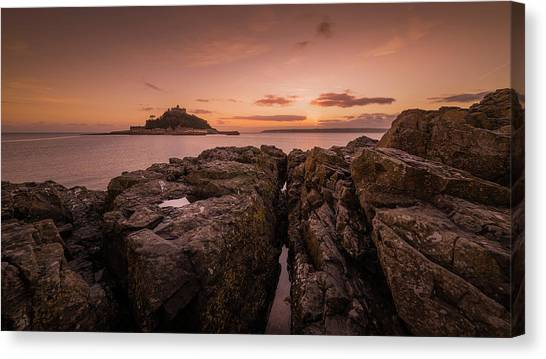 To The Sunset - Marazion Cornwall Canvas Print