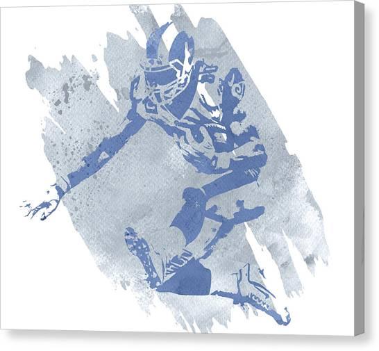 Los Angeles Rams Canvas Print - Todd Gurley Los Angeles Rams Water Color Pixel Art 40 by Joe Hamilton