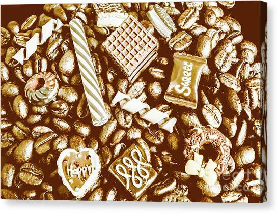 Biscuits Canvas Print - Toffee And Coffee by Jorgo Photography - Wall Art Gallery