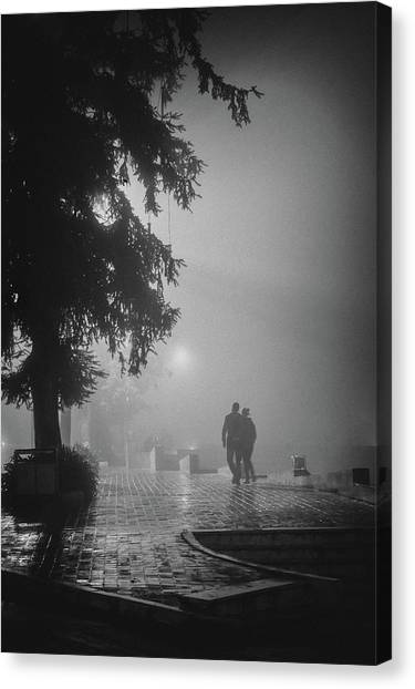 Together In Fog, Sa Pa, 2014 Canvas Print by Hitendra SINKAR