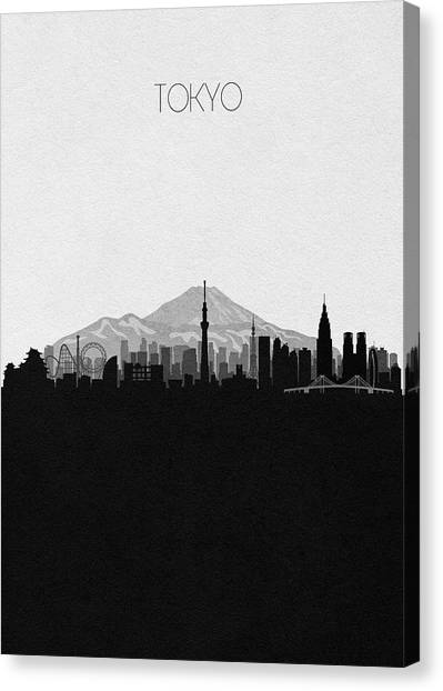 Tokyo Skyline Canvas Print - Tokyo Cityscape Art by Inspirowl Design