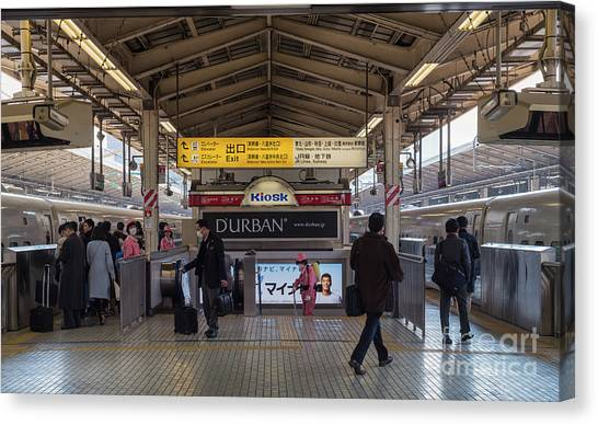 Tokyo To Kyoto Bullet Train, Japan 2 Canvas Print