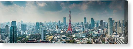 Tokyo Tower Futuristic Skyscraper Canvas Print by Fotovoyager