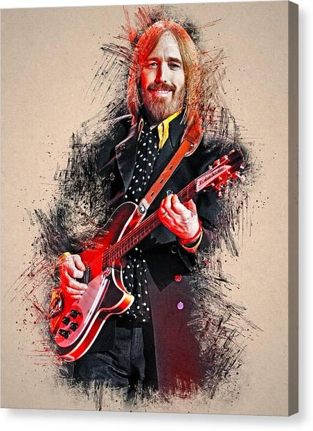 Tom Petty - 35 Canvas Print