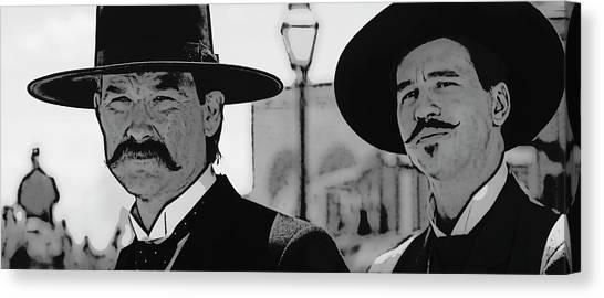 Ok Canvas Print - Tombstone Earp Holliday by Daniel Hagerman