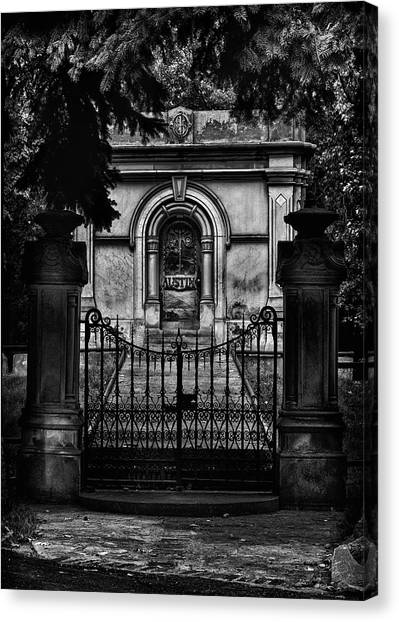 Canvas Print featuring the photograph Tombstone Shadow No 6 by Brian Carson