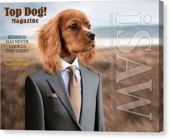 Canvas Print featuring the digital art Top Dog Magazine by ISAW Company