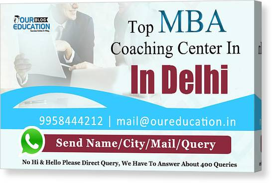 Mba Canvas Print - Top Mba Coaching Center In Delhi  by Mukesh Kumar