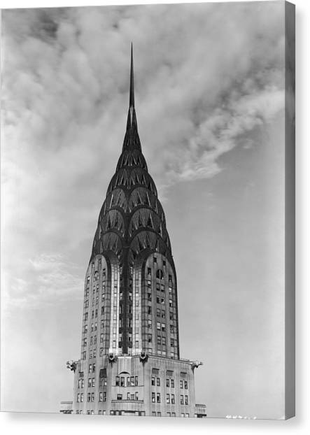 Top Of The Chrysler Building Canvas Print by Frederic Lewis