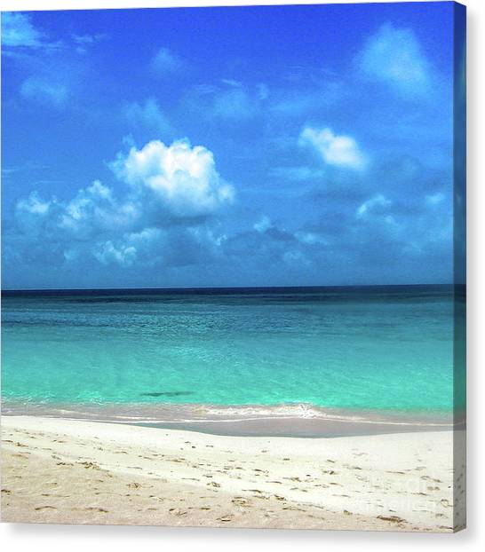 Topical Beach View Anguilla Canvas Print