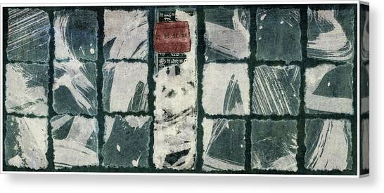 Torn Paper Collage Canvas Print - Torn Squares Collage by Carol Leigh