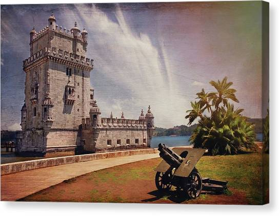 Fortification Canvas Print - Torre De Belem Lisbon by Carol Japp