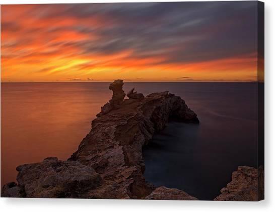 Total Calm At A Sunrise In Ibiza Canvas Print