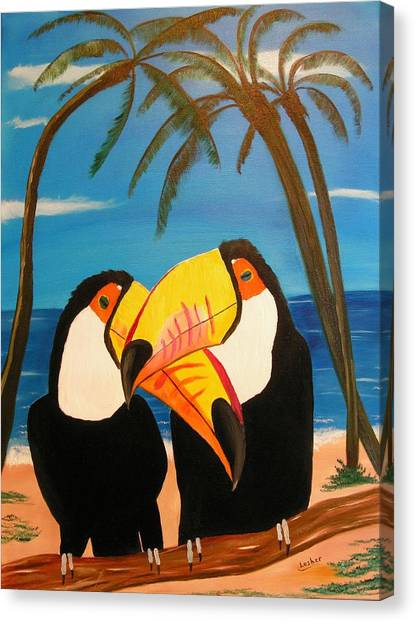 Toucan Love Canvas Print